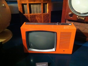Orange Retro Television at The National Media Museum