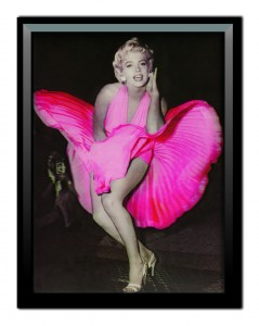 3D Lenticular Framed Picture - Marilyn Monroe Pink Dress