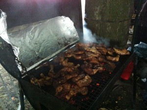 Jerk Chicken BBQ at The Leeds West Indian Carnival 2013