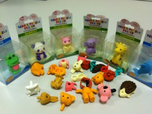 Collectable TY Beanie Animal Shaped Rubber Erasers
