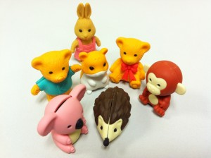 Ty Beanie Animal Shaped Rubber Erasers
