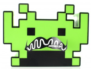 Space Invader Alien with a Moustache For Movember