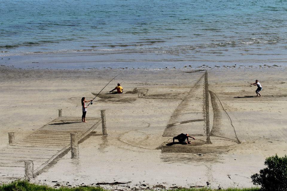 3D Sand Art - Beach Life