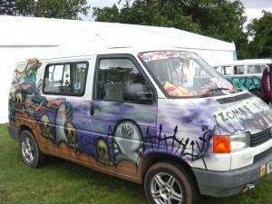Zombie Response VW Graffiti Van