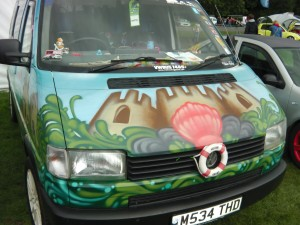 VW Graffiti Van at Harewood VW Festival