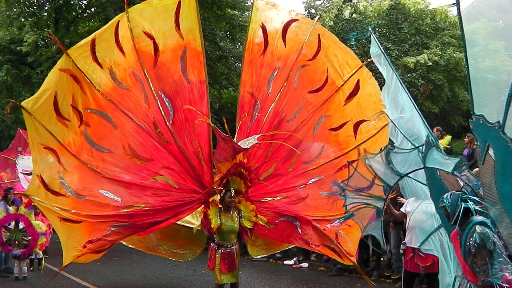 Orange Costume at Leeds Carnival 2014